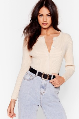 Nasty Gal Womens Cardi-gone Home Button-Down Cardigan - Cream