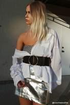 Forever 21 FOREVER 21+ Metallic Faux Leather Skirt