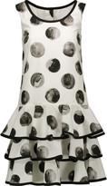 Dolce & Gabbana Printed ruffled cotton-poplin mini dress