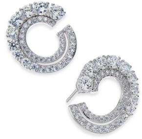 Eliot Danori Cubic Zirconia Frontal Hoop Earrings, Created for Macy's