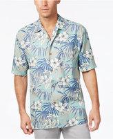 Tommy Bahama Men's Big & Tall Hibiscus De Cuba Floral-Print Silk Short-Sleeve Shirt