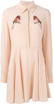 Stella McCartney bird patch shirt dress - women - Silk - 40