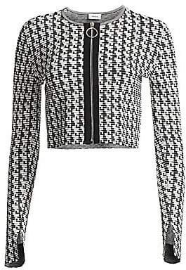 Akris Punto Women's Soundboard Pattern Long Sleeve Bolero Cardigan