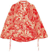 RIXO London Printed Silk Crepe De Chine Blouse - Red