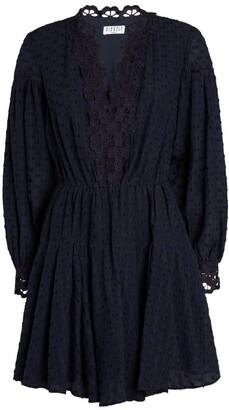 Claudie Pierlot Embroidered Mini Dress