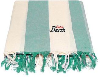 MC2 Saint Barth Green Big Striped Ultralight Cotton Towel