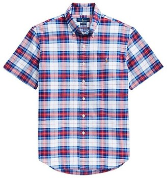 Polo Ralph Lauren Classic-Fit Short-Sleeve Plaid Oxford Sport Shirt