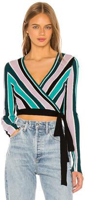 Wildfox Couture Vivid Stripes Emma Sweater Wrap