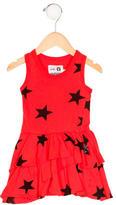 Nununu Girls' Star Print Tiered Dress
