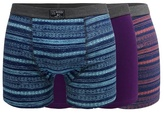 Mantaray Pack Of Three Assorted Striped Hipster Trunks