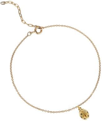 Lee Renee Ladybird Black Diamond Bracelet (Wings Closed) Gold