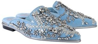Alexander McQueen Slipper With Crystals