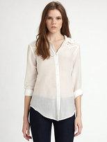 Ella Moss Heidi Eyelet-Trim Shirt