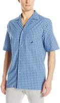 Nautica Men's Plaid Cotton Sleep Top