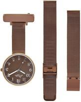 Bermuda Watch Company Annie Apple Empress Interchangeable Brown Mesh Wrist To Nurse Watch