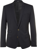 Dolce & Gabbana - Blue Slim-fit Virgin Wool-blend Blazer