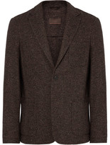 Altea Brown Tray Unstructured Wool-blend Tweed Blazer - Brown