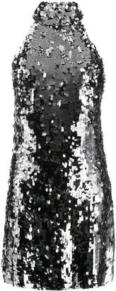 Galvan Silver Sequin Gemma Dress