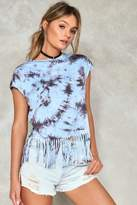 Nasty Gal nastygal Tie Dye For You Fringe Tee