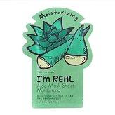 Tony Moly Tonymoly I'm Real Skin Care Facial Mask Sheet Package (Aloe - Moisturizing 10 Sheets)