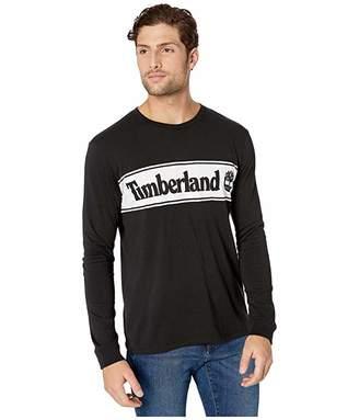 Timberland Long Sleeve Cut and Sew Linear Logo Tee