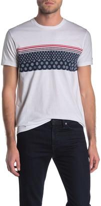 Ben Sherman Floral Geo Stripe T-Shirt
