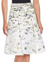 Carolina Herrera Printed Flared Skirt