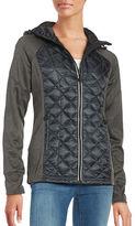 MICHAEL Michael Kors Hooded Zip Front Raglan Jacket