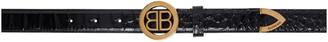 Balenciaga Black Croc Circled BB Belt
