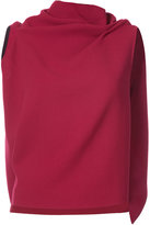 Roland Mouret draped sleeveless knitted top - women - Wool - 6