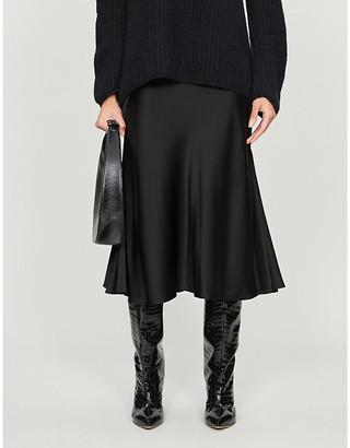 Diane von Furstenberg Carole panelled satin midi skirt