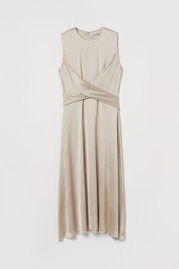 Thumbnail for your product : H&M Draped satin dress