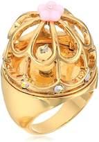 Betsey Johnson Marie Antoinette Birdcage Ring, Size 7