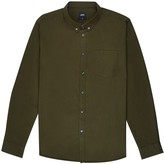 Burton Mens Big & Tall Khaki Long Sleeve Oxford Shirt
