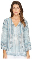 Hale Bob Pretty Brilliant Rayon Dot Woven Long Sleeve Top Women's Clothing