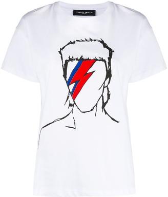 Frankie Morello Bowie print crew neck T-shirt