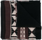 Maison Margiela geometric weave scarf - men - Cotton/Wool - One Size
