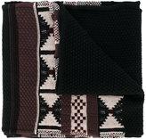 Maison Margiela geometric weave scarf