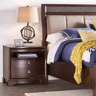 Weston Home Nightstand with Pull Out Tray, Dark Brown
