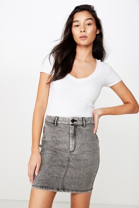 Supre Chloe Stretch Denim Mini Skirt