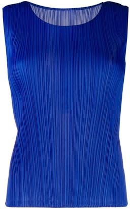 Pleats Please Issey Miyake Short Pleated Vest