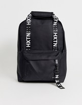Hxtn HXTN Supply taped logo backpack in black