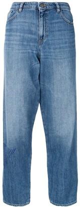 Emporio Armani Side Logo Loose Jeans