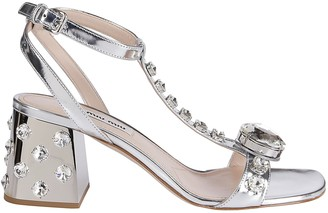 Miu Miu Crystal Embellished Sandals