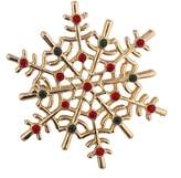 Lux Accessories Holiday Christmas Winter Snowflake Green Rhinestone Brooch Pin