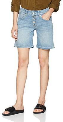 S'Oliver Q/S designed by Women's 41.804.72.6956 Shorts, (Blue Denim/Heavy Stoned w 54Z6)