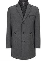 Bugatti Herringbone Epsom Overcoat, Charcoal