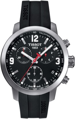 Tissot PRC200 Chronograph Silicone Strap Watch, 41mm