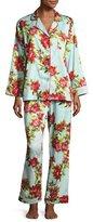 BedHead Hibiscus Classic Pajama Set, Light Blue, Plus Size