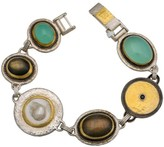 Gurhan Galapagos Yellow Gold & Sterling Silver Shell & Black Spinel Bracelet